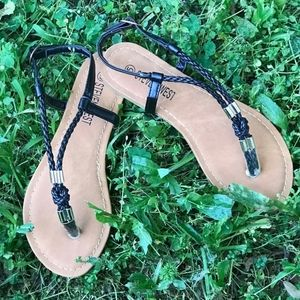 Steven West Braided Sandals